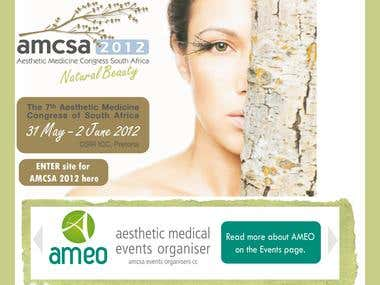 Health care website for Aesthetic Medicine Congress of South