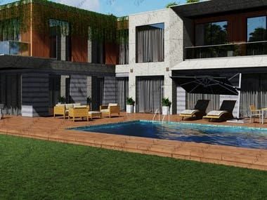 Modern Villa Model and Render
