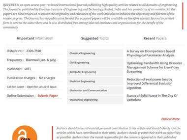 Website for International Journal