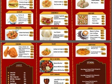 Resurgent menu card Design