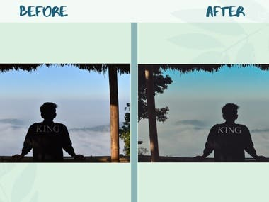 Photo editing and retouching