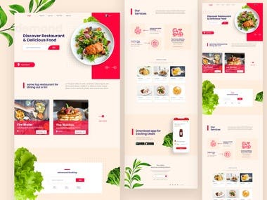 Food Delivery Landing page Exploration