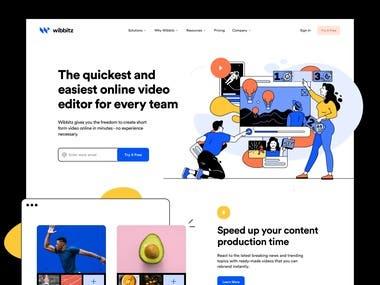 Quick online video editor website