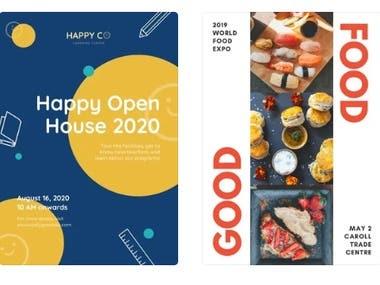 Designs of Flyer, Brochure & Presentation