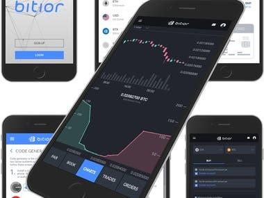 Bitcoin exchange web and mobile app.