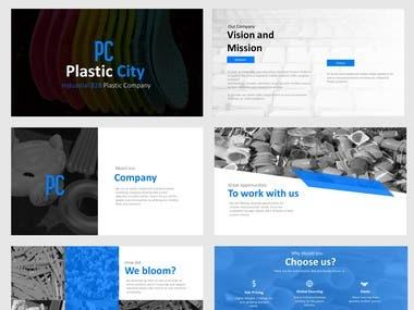 Plastic city ppt design