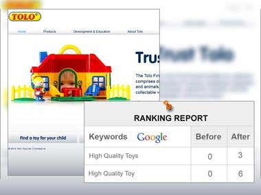 SEO for Toys Site