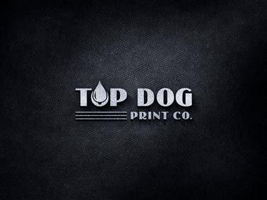 Top Dog Print Co. : Re-branded Business Logo