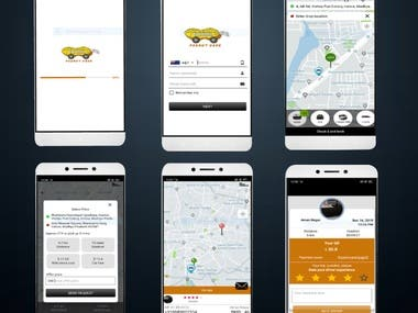 peanut ride share taxi user and driver app