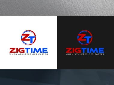 ZigTime, sports accessories brand logo !