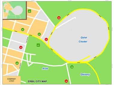 Sample cartographic map