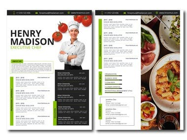 Two page Chef Resume
