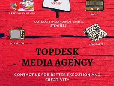 Flyer for a Media Agency