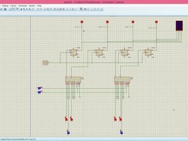 Universal shift register 4-bit