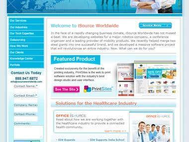 IT web development services site