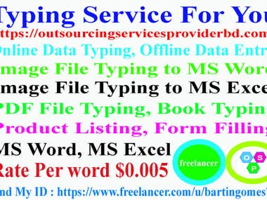 Typing Service For You