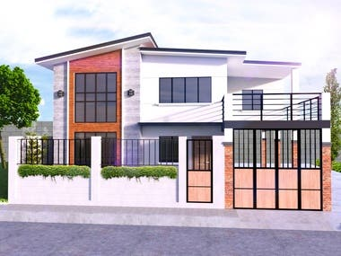 Two Storey Residential Building Design