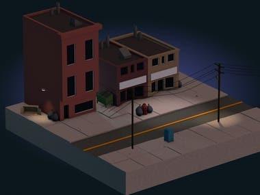 3D Isometric City Model