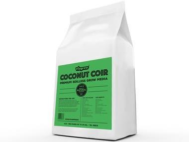 Coconut Coir | Package Label Design
