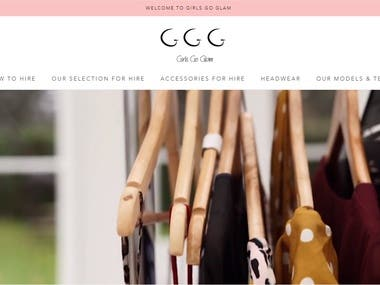 Girs Go Glam Website Design and Maintanance