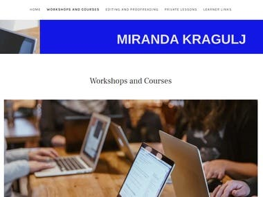 Blog Website Design for Miranda Kragulj