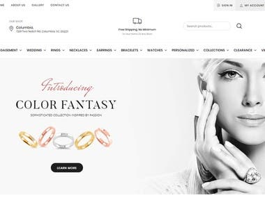 New York Gold & Diamonds eCommerce store