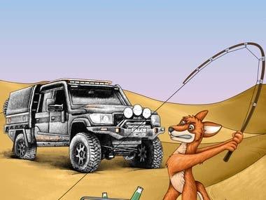 Cartoon artwork