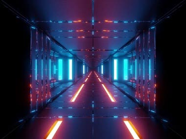 sci fi tunnel rendering