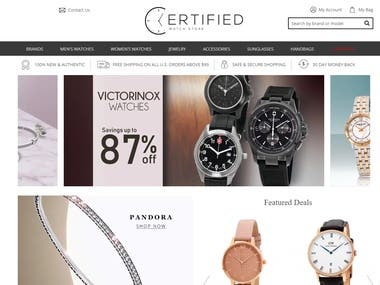 Website for sales watch mainly.