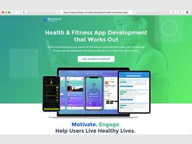 Scopic Health & Fitness Application