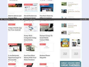 Wordpress Publishing Website