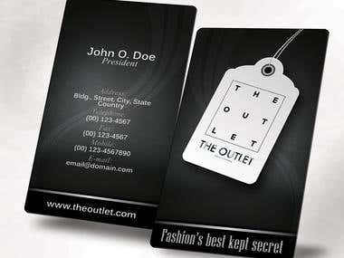 The Outlet Business Card - finalist
