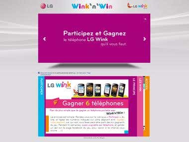 Contest Website for LG Electronics