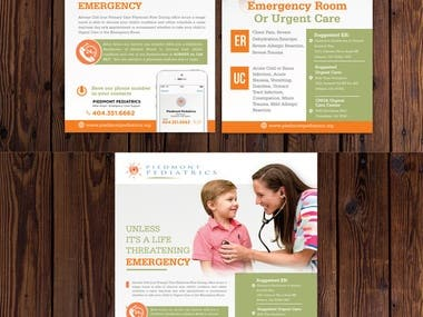 Rack Card and 8.5 x 11 for Pediatrician's Office