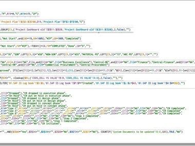 Complex Excel/Google Sheet Formula used