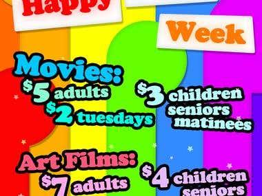 Rainbow Cinemas Ad for Sudbury Pride Week