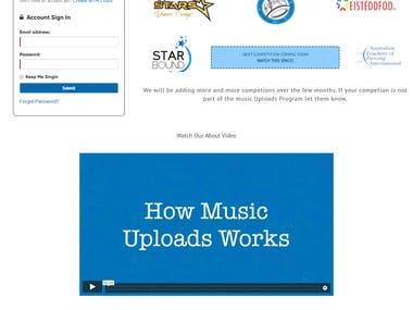 Custom Design + Programmed website