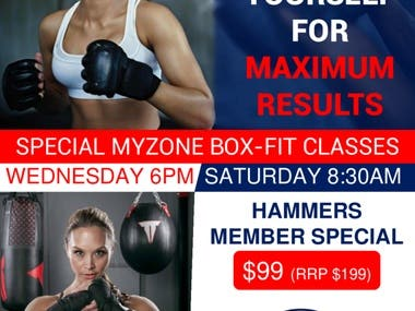 POSTER FOR MYZONE BOXFIT CLASSES