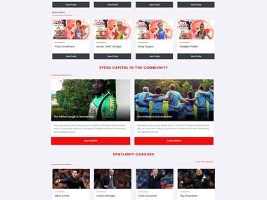 Sports Website Portal