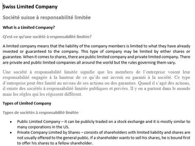 EN-FR Swiss Limited Company
