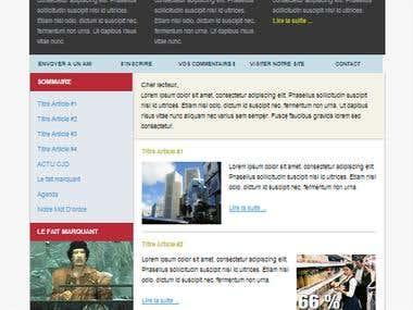 Custom HTML Newsletter