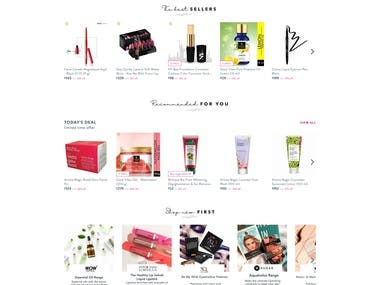 Beauty shopping website
