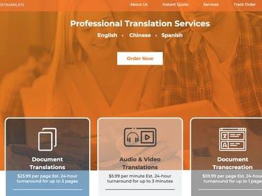 Professional Translattion Web Service