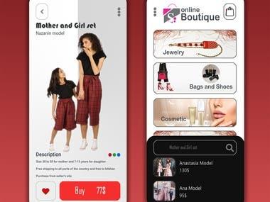 Online boutique app