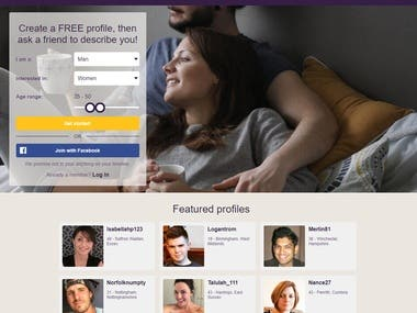 Dating Web App Development
