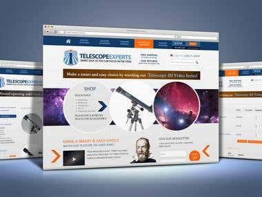 WooCommerce Telescopes Site