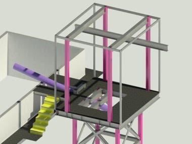 motor conveyor steel platform design