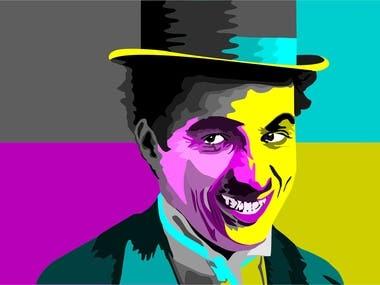 Ilustration of Charlie Chaplin