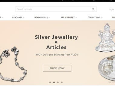 E-Commerce Site For Jewellery