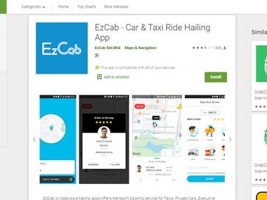 EzCab - Car & Taxi Ride Hailing App